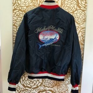 Vintage 80s Sail-fishing Tournament Bomber Jacket